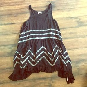 Free people trapeze tunic Sz small black
